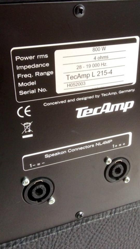 TecAmp 215 L / 4 ....serielle Option? | Bassic.de