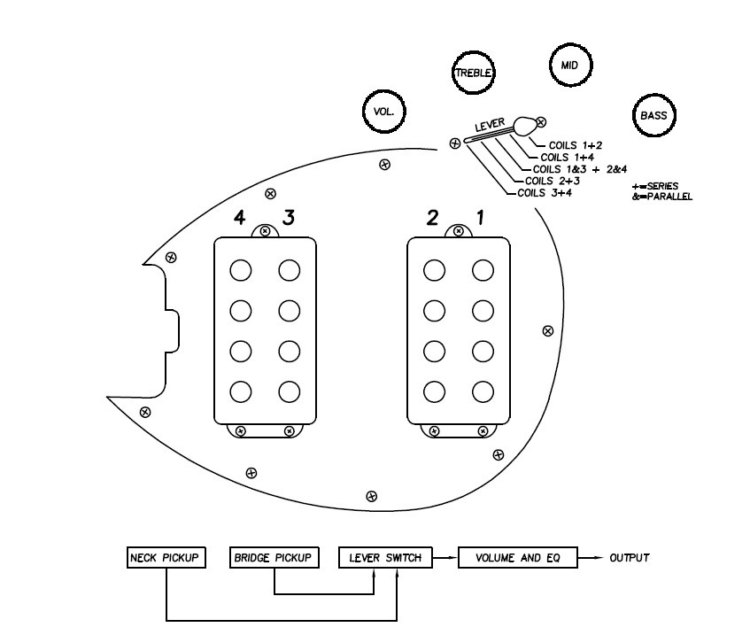 schaller 5 way switch wiring diagram