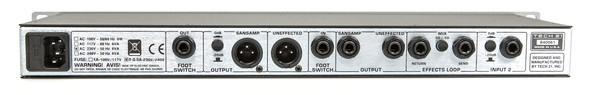Tech21 VT-Bass Rückseite Inputs