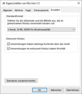 01-Geräteeigenschaften von MicInst12 auf 24 Bit, 48000Hz umstellen.png