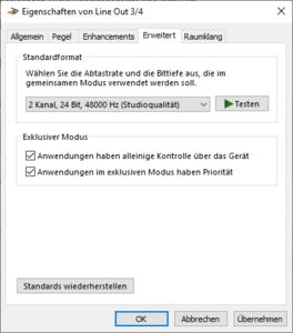 03-Geräteeigenschaften von LineOut34 auf 24 Bit, 48000Hz umstellen.png