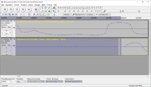 03-Trennen und Auswahl des Stille-Abschnitts links zeigt Länge von 0,111 s, offenbar einschlie...png